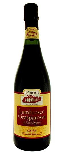 Lambrusco Grasparossa di Castelvetro Classico Doc - Azienda Agricola Ca' Berti - Vino Emilia Romagna
