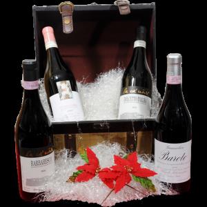 Cesta Natalizia : 126 Confezione Vini Piemonte -  -
