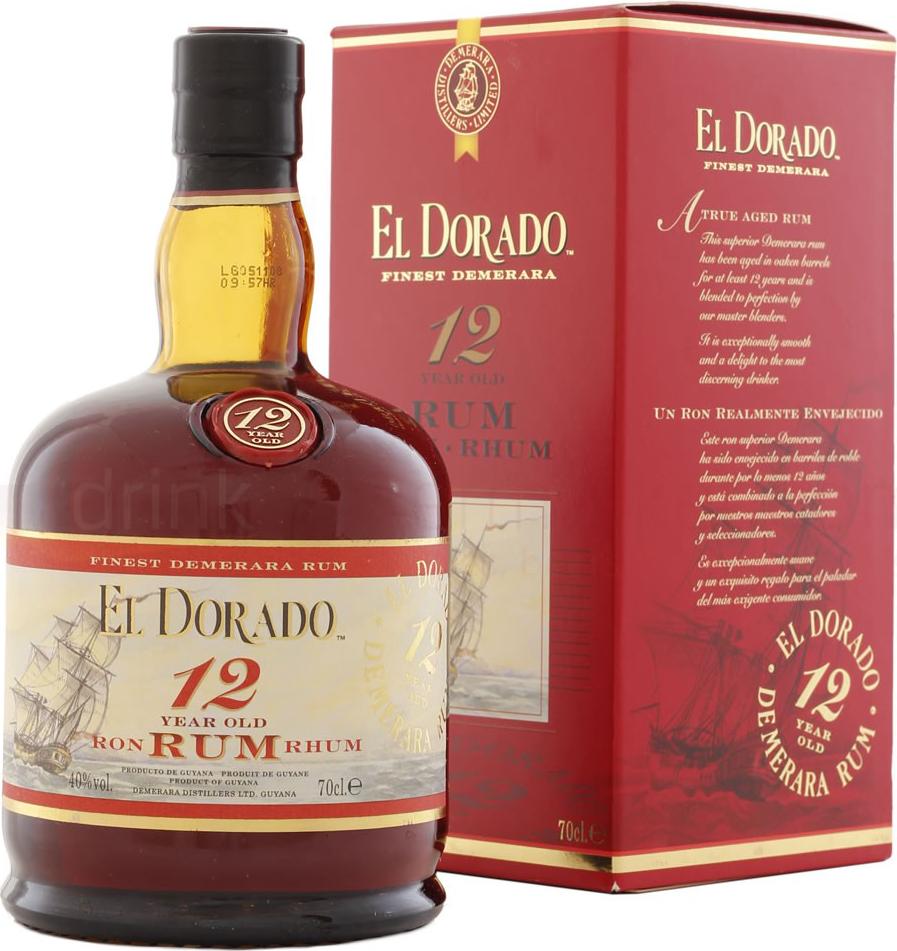 El Dorado 12y - Demerara Distillers ltd - Rum Guyana Britannica