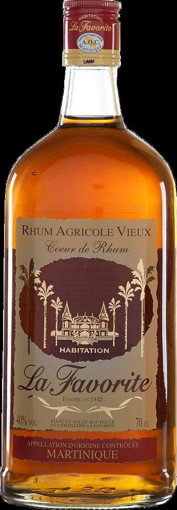 La Favorite Coeur de Rhum 1lt - La Favorite Distillerie - Rum Guadalupe