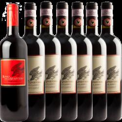 6 Bottiglie di Chianti + Rosso Montepulciano - Casale dello Sparviero - Vino Toscana