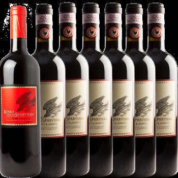 6 Bottiglie di Chianti + Rosso Igt - Casale dello Sparviero - Casale dello Sparviero - Vino Toscana