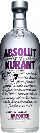 Absolut Kurant Vodka - The Absolut Company - Vodka Svezia