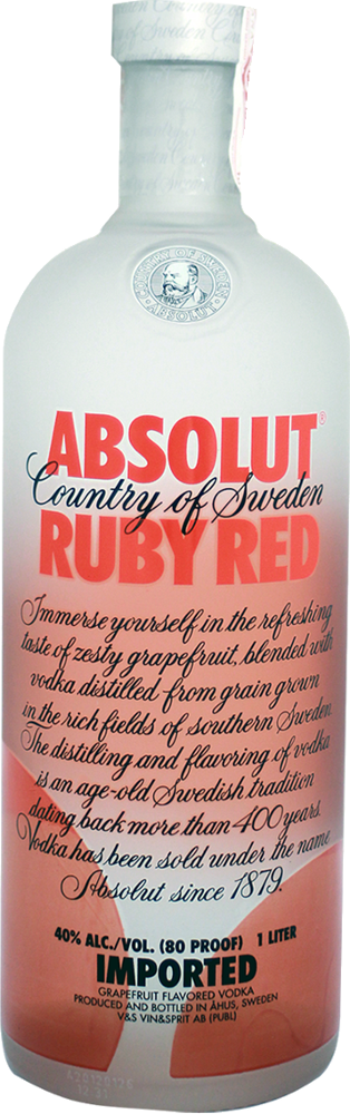 Absolut Ruby Red Vodka - The Absolut Company - Vodka Svezia