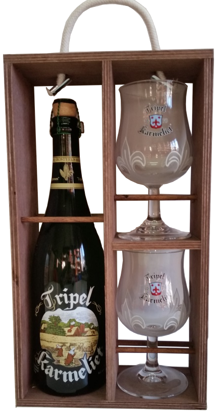 Scatola regalo triple karmeliet di browerij bosteels in for Bicchieri per birra vendita