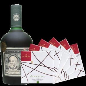 Rum Diplomatico Riserva Exclusiva + Cioccolato Artigianale Do Mori - Unidas s.a. - Rum Venezuela