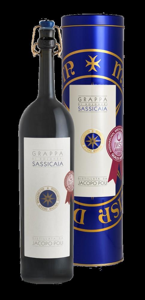 Grappa di Sassicaia 70cl - Distilleria Poli - Grappa Italia